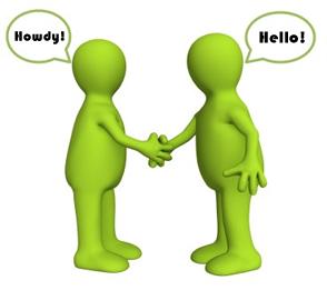 Howdy-Hello Handshaking